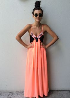 Casual maxi dress~perfect for the summer. Would look really cute with a 3/4 blue jean jacket for the afternoon