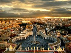 Vatican City - I stood at the top of St. Peters.  It was the scariest and most amazing thing I think I've ever done.
