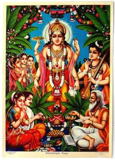 India Hindu God poster Satyanarayan Pooja by S S Brijbasi Durga Images, Lakshmi Images, Krishna Images, Lord Ganesha, Lord Krishna, Shiva Meditation, Rama Image, Lord Shiva Family, Lord Vishnu Wallpapers