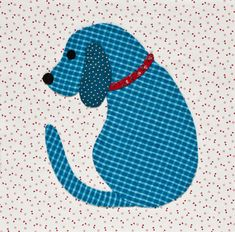 Puppy dog applique, in: Inspired by Tradition by Kay MacKenzie. Featured at Quilt Shop Gal Hand Quilting Patterns, Applique Patterns, Applique Quilts, Applique Designs, Embroidery Applique, Machine Embroidery, Machine Applique, Applique Templates Free, Embroidery Designs