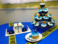 Cool police themed birthday party