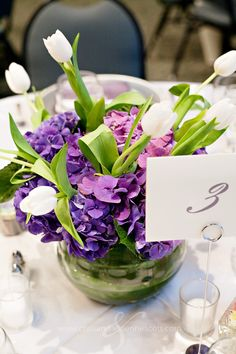 Centerpieces with purple