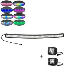 """598.00$  Buy here - """"Nicoko 42""""""""240W Curved LED Light Bar+1 pair Led work light with RGB chasing for Indicators Driving Offroad Boat Car Tractor Truck""""  #magazineonlinewebsite"""