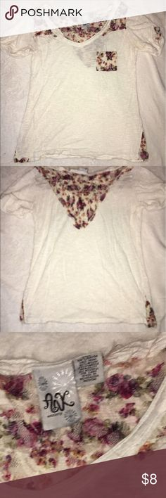 Shirt! It's cream short with floral lace and a pocket! anxiety Tops Blouses