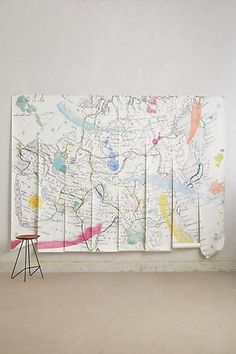 Tradewinds Wall Mural #anthropologie Carter is obsessed with maps. This would be so cool in his bedroom!
