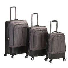 Rockland Milan Hybrid Eva 3-Piece Luggage Set, Grey :Disclosure :Affialiate Link