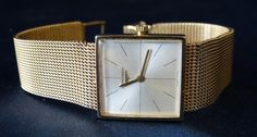 P. F. Windibank : A Gentlemen's Longines 9ct Gold Square Faced Wrist : Online Auction Catalogue