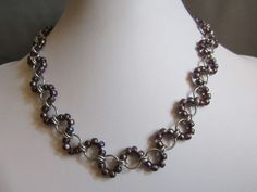 Chainmaille Necklace Japanese Wave - originally at https://www.etsy.com/shop/MorganasDesigns