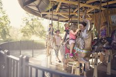 Sunny Skaggs Photography Session at the Tulsa Zoo on the Carousel