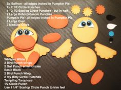 Easter Punch Art Instructions by Sharon White at Sharons Scrappy Space - Decor DIY Paper Punch Art, Punch Art Cards, Paper Art, Paper Crafts, Owl Punch, Duck Punch, Craft Punches, Animal Cards, Card Tutorials
