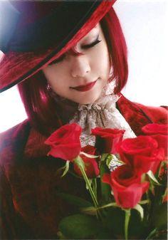 Akane Liv as madam Red - Kuroshitsuji Musical 3