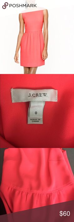 J.Crew Camille Dress Neon Pink Dress with lining. Zipper closure on side. Worn only once. Great quality. J. Crew Dresses