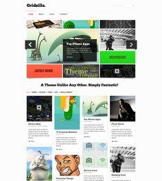 olevia free portfolio and blogging theme web design