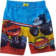 Nickelodeon Blaze and the Monster Machines Toddler Boy Swim Trunks, Size: 25 Months, Multicolor
