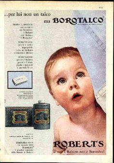 IL VECCHIO: Pubblicità farmaci e profumi, Borotalco Roberts