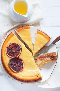 Blood Orange and Rhubarb Cheesecake