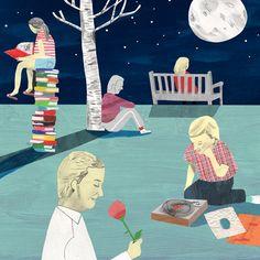 We enjoyed the evening! / Disfrutamos de la noche! (ilustración de Luke Best)