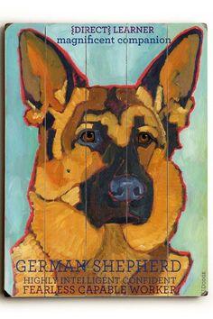 German Shepherd by Pet Art Shop on @HauteLook