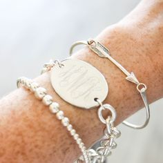 Sterling is the perfect Summer accessory! We love this classy HandPicked stack!