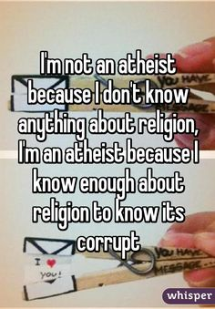 21 Confessions From Atheists