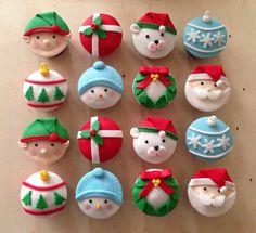 #christmascupcakes #cupcakesnavideños #navidad #christmas #cakeitbogota