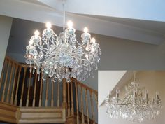 Stunning example of how our candle tubes and candle bulbs can look in this outstandingly beautiful chandelier by L&L customer, Gillian M. www.lampsandlights.co.uk/candle.php