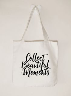 Collect beautiful moments Canvas tote bag by ToastStationery