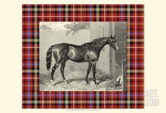 Equestrian Plaid III Art Print by E. Hacker at Art.com