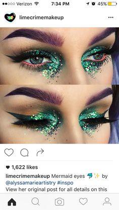 Festival mermaid make up                                                       …