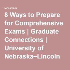 How were your comprehensive exams (History M.A.)?