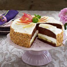 Apfel-Schoko-Torte Vanilla Cake, Cheesecake, Desserts, Food, Apple, Pies, Tailgate Desserts, Deserts, Cheesecakes