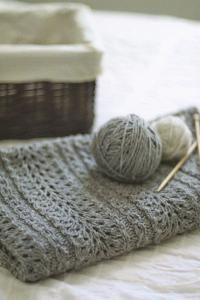 purl soho | products | item | shale baby blanket (brooklyn tweed)