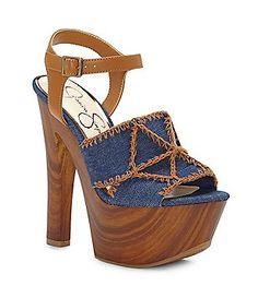 6505981e3bf Jessica Simpson Dezzie Denim Platform Sandals