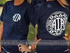 PERSONALIZED FULL BACK CIRCLE AZTEC SHORT SLEEVE SHIRT (SHIPS IN 2-3 WEEKS)