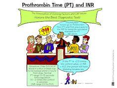 Nursing Mnemonics & Tricks (Diagnostics) Prothrombin time and INR Nursing Lab Values, Nursing Labs, Nursing Career, Nursing Major, Nursing Gifts, Nursing Scrubs, Nursing Wear, Nursing Assistant, Nursing Graduation