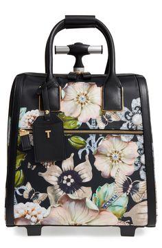e263825fd9ad1c New Ted Baker London Inez Gem Gardens Two-Wheel Travel Bag (16 Inch)