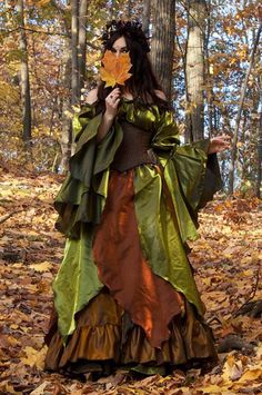 Renaissance Medieval Fall Faerie Woodland Autumn Fairy Costume #IDoDeclare #3PieceCostumecorsetnotincluded