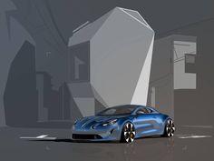#Alpine A110 #sketches by Yann Jarsalle