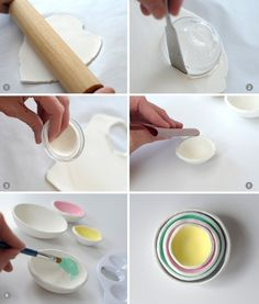 DIY Air Dry Clay Bowls on aliceandlois.com