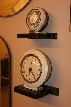 Mamie Jane's: Repurposed Vintage Mortise Lock to use as small shelves for vintage alarm clocks : )