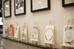 Small easels act as product display at the national stationery show
