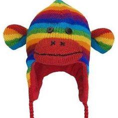 rainbow sock monkey hat - Google Search