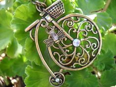 Tag A Long Bicycle Necklace by TheOmbrePoodle on Etsy, $12.00
