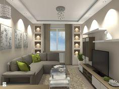 Mieszkanie w śródmiejskim bloku (Warszawa) - Mały salon, styl nowoczesny - zdjęcie od Medyńscy Projektowanie