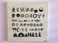 Die Vereinigung der Religionen Religion, Simple Paintings, Landing Pages, Artworks, Religious Education