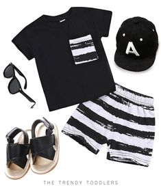 Stylish set for your baby boy Black tee with front pocket + Striped shorts Great outfit for playtime Soft cotton material, no harm for your baby's delicate skin Cute Baby Boy, Baby Boy Suit, Lil Boy, Baby Boy Shoes, Baby Outfits, Kids Outfits, Cheap Kids Clothes, Trendy Baby Clothes, Guy Clothes