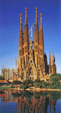 A few places in the entire world are as breathtaking as the majestuous Sagrada Familia in Barcelona, Spain. When in holiday in Barcelona, one of the top places to see on your list should be Gaudi's masterpiece Beautiful Places In The World, Places Around The World, The Places Youll Go, Places To See, Spain And Portugal, Place Of Worship, Beautiful Buildings, Kirchen, Amazing Architecture