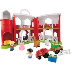 Check out the Little People Animal Friends Farm at the official Fisher-Price website. Explore the world of Little People today! Travel Toys For Toddlers, Toddler Travel, Toys For Boys, Kids Toys, Farm Animals For Toddler, Toddler Toys, Fisher Animal, Kids Barn, Baby Learning Toys