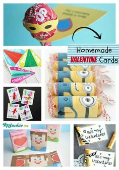 Homemade Valentine Cards - tons of ideas here