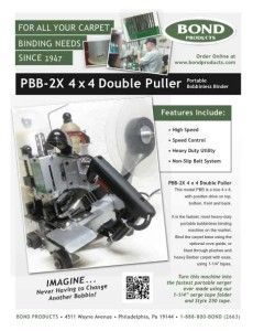 Double Puller Carpet Binders - Bond Products Inc Berber Carpet, Diy Carpet, Custom Rugs, Binder, Trapper Keeper